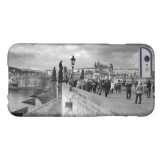 on the Charles Bridge under a stormy sky in Prague Barely There iPhone 6 Case