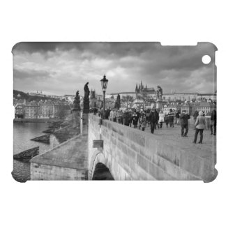 on the Charles Bridge under a stormy sky in Prague Case For The iPad Mini