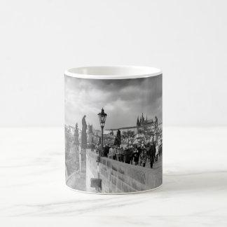 on the Charles Bridge under a stormy sky in Prague Coffee Mug
