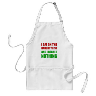 On The Christmas Santa Naughty List Regret Nothing Standard Apron