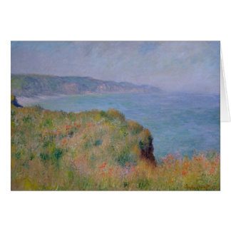 On the Cliff at Pourville - Claude Monet Card