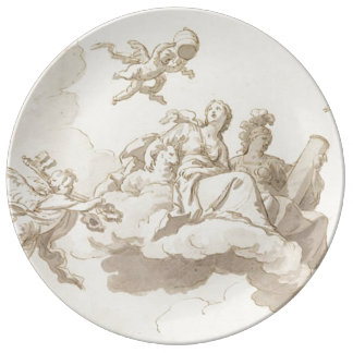On the clouds porcelain plates