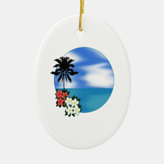 ON THE DAILY CERAMIC OVAL ORNAMENT