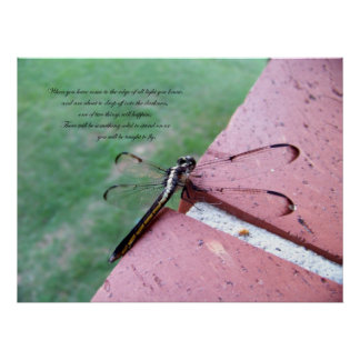On the Edge Dragonfly Fine Art Print w/verse