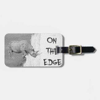 On The Edge Luggage Tag