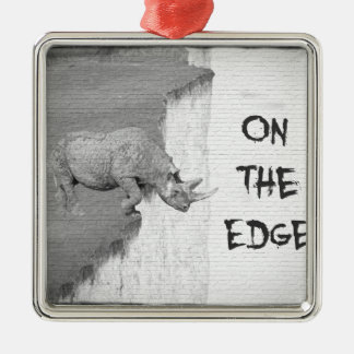 On The Edge Metal Ornament