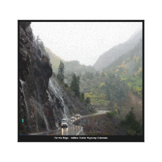 On the Edge Million Dollar Highway Colorado Canvas Print