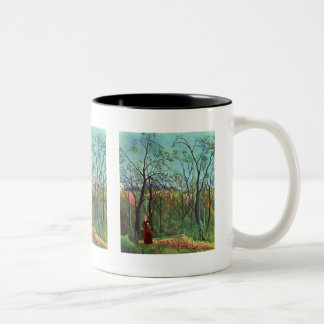 On the edge of a forest Two-Tone coffee mug