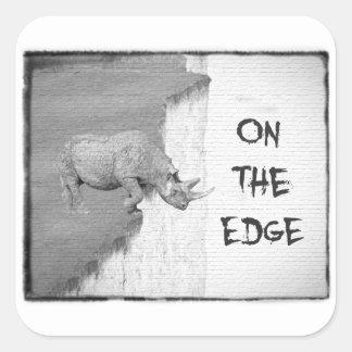 On The Edge Square Sticker