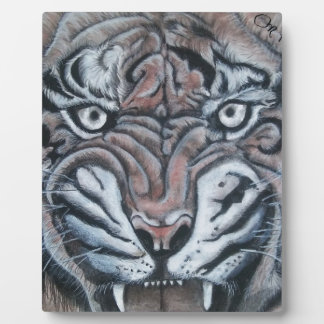 On The Edge-Tiger Plaque