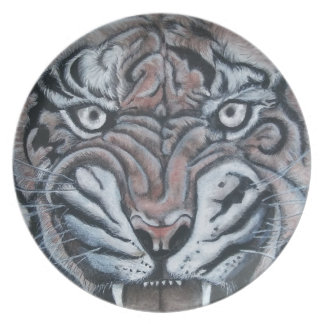 On The Edge-Tiger Plate