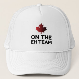 d7396e7c5f6 On The Eh Team Canada Funny Trucker Hat