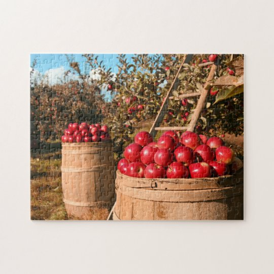 On the Farm Apple Orchard Trees Countryside Photo Jigsaw Puzzle
