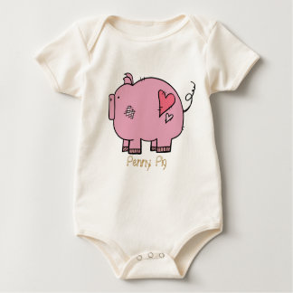On The Farm: Penny Pig Onsie Baby Bodysuit