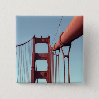 On The Golden Gate Bridge 2 Inch Square Button