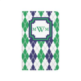 On the Green Argyle Pocket Journal