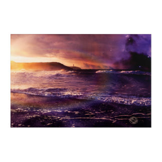 On the Horizon of the Infinite Fractalscape Acrylic Wall Art