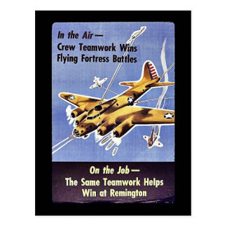 On The Job, The Same Teamwork Helps Win At Remingt Postcard
