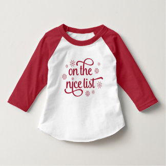 On the Nice List | Christmas Toddler T-Shirt