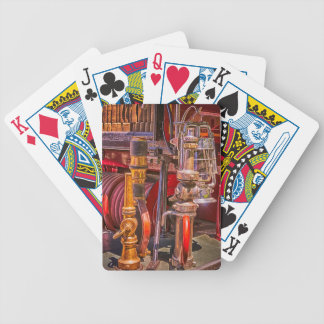 On The Old Firetruck Bicycle Playing Cards