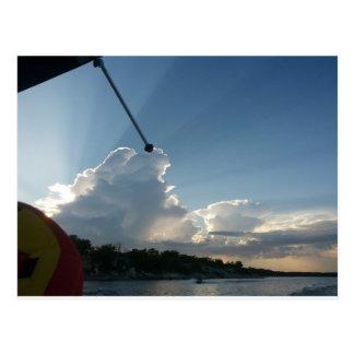 On the pontoon postcard