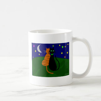 """On The Prowl"", Cat Art Gifts--Artist Drawn/Signed Classic White Coffee Mug"