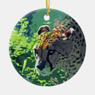 On the Prowl-d Ceramic Ornament
