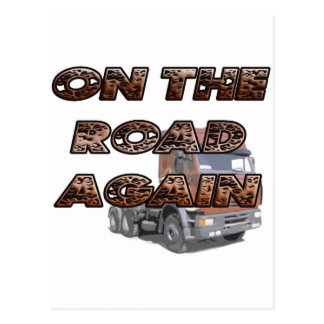 ON THE ROAD AGAIN POSTCARD