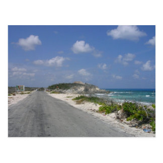On the Road - Cozumel, Mexico Postcard
