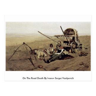 On The Road Death By Ivanov Sergei Vasilyevich Postcard