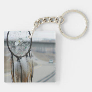 On The Road Double-Sided Square Acrylic Keychain