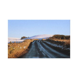 On the Road in Scotland Canvas Print