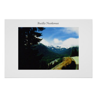 On the Road Pacific Northwest Poster