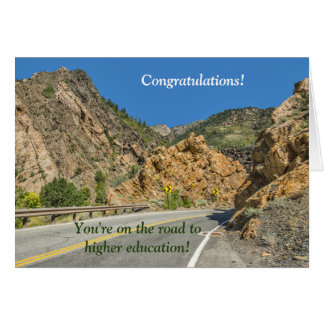 On the road to higher education; College bound Card
