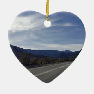 on the road to mt charleston nv ceramic ornament