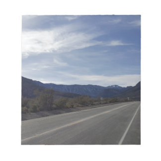 on the road to mt charleston nv notepad