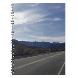 on the road to mt charleston nv spiral notebook