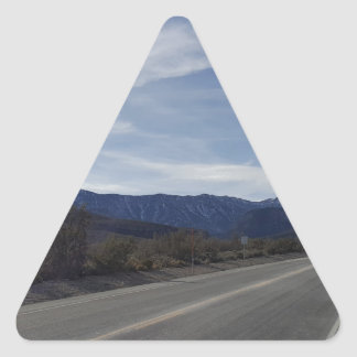 on the road to mt charleston nv triangle sticker