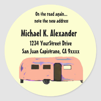 On the Road Trailer Classic Round Sticker