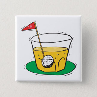 On The Rocks 2 Inch Square Button