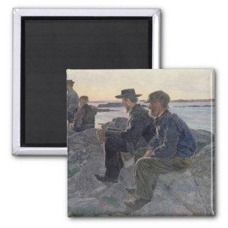 On the Rocks at Fiskebackskil, 1905-6 Magnet