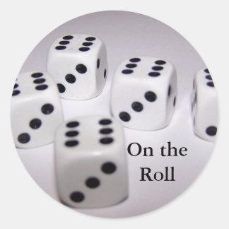 , On the Roll Round Sticker