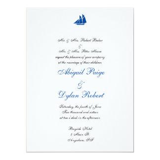 """""""On the Sea"""" Wedding Invitations"""