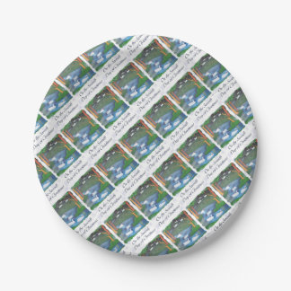 On the Seventh Day of Christmas Paper Plate