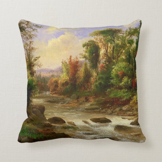 On the St. Annes East Canada by Duncanson Throw Pillow