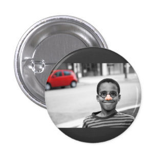 on the street clown 1 inch round button