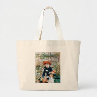 On the Terrace by Pierre-Auguste Renoir 1881 Jumbo Tote Bag