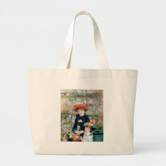 On the Terrace by Pierre-Auguste Renoir 1881 Large Tote Bag