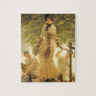 On The Thames by James Tissot, Vintage Realism Jigsaw Puzzle
