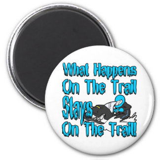 On The Trail 2 Inch Round Magnet